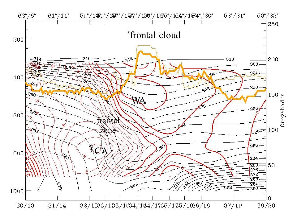 ´frontal cloud frontal zone WA CA