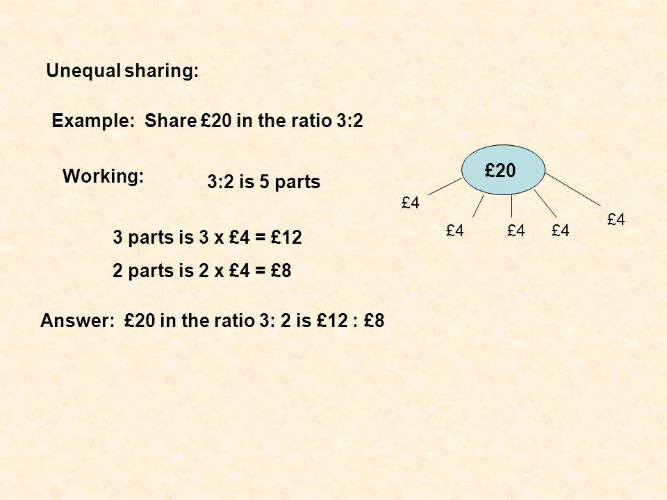 Ratio spider diagram 2M5.2 Complete the boxes:
