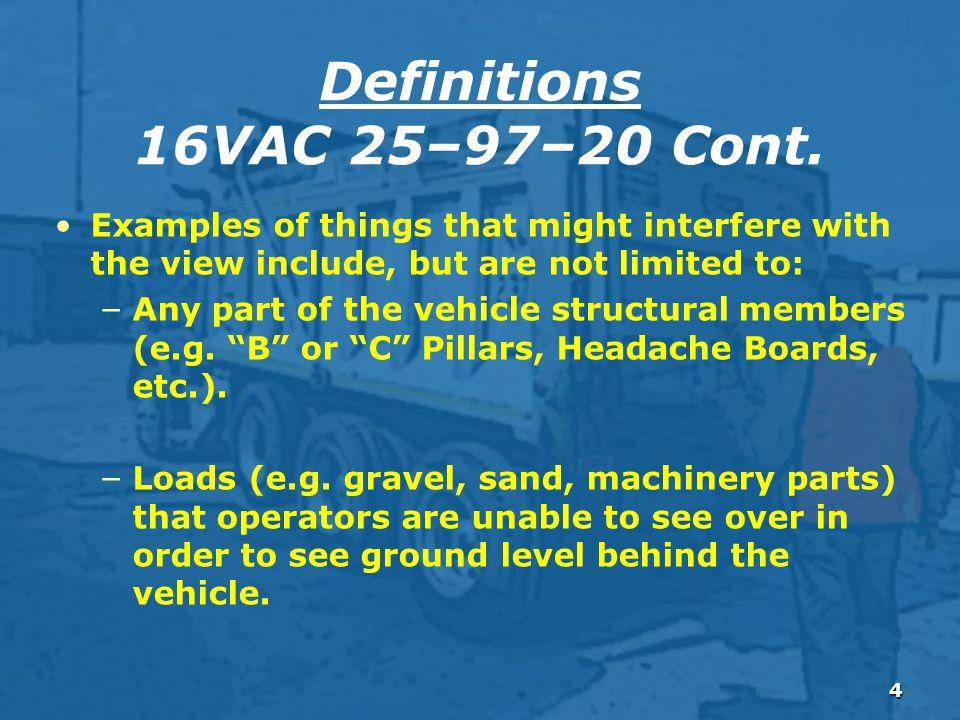 4 Definitions 16VAC 25–97–20 Cont.