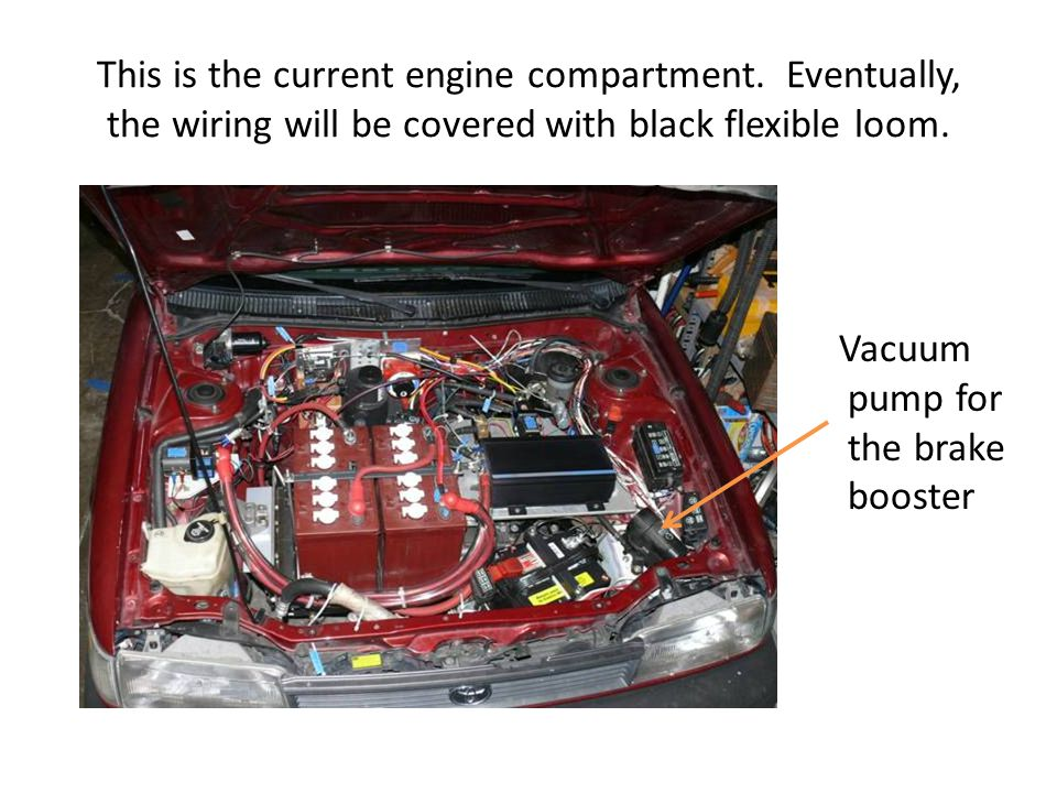 This is the current engine compartment.