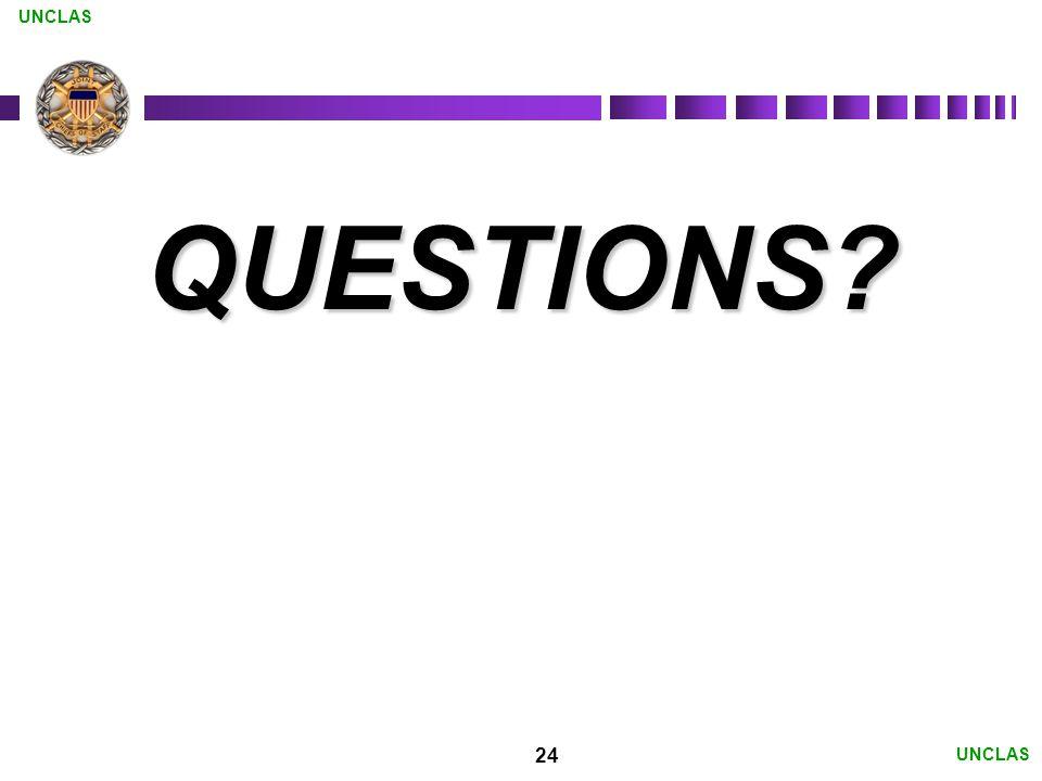 24 UNCLAS QUESTIONS