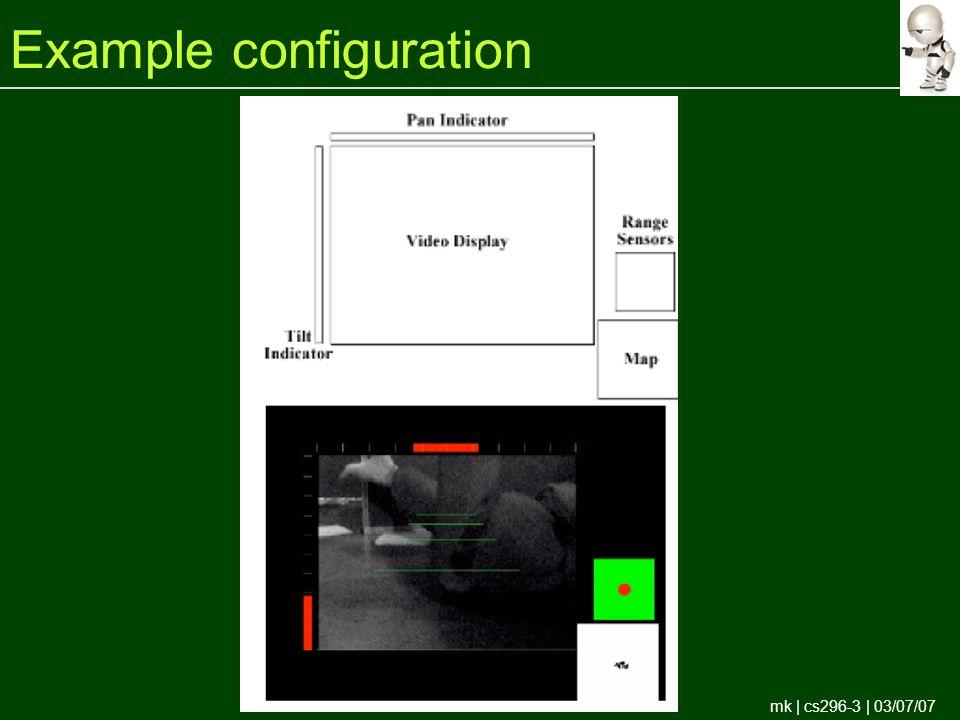 mk | cs296-3 | 03/07/07 Example configuration