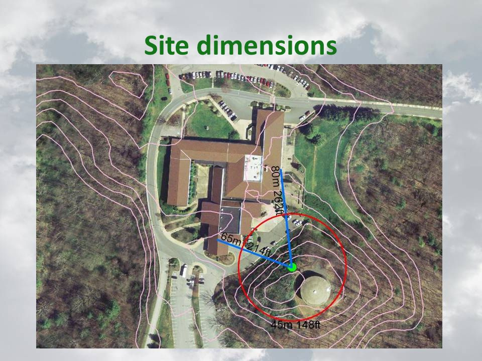 Site dimensions
