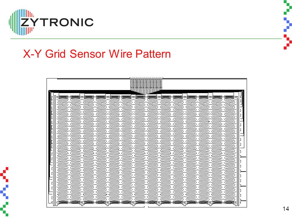 14 X-Y Grid Sensor Wire Pattern