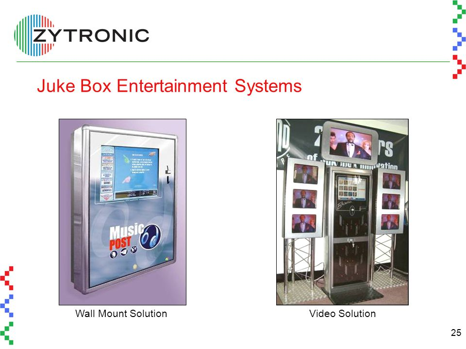 25 Juke Box Entertainment Systems Wall Mount SolutionVideo Solution