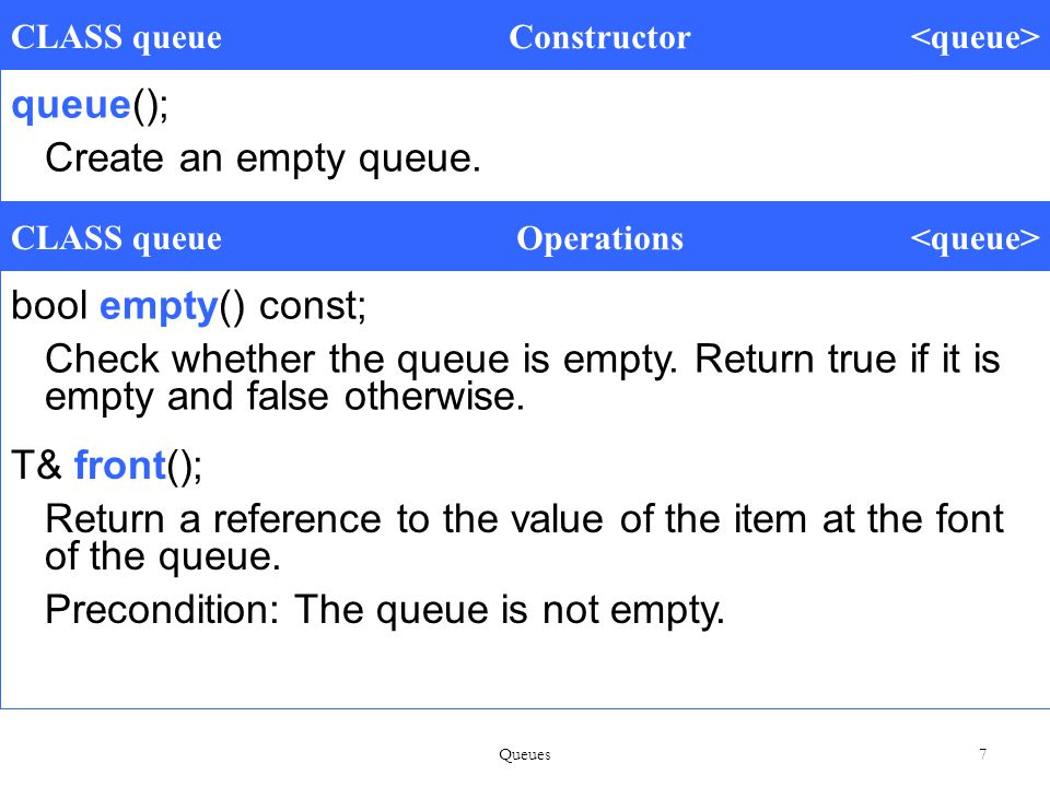 Queues 58 Methods to Implement i = (( i + 1) == max) .