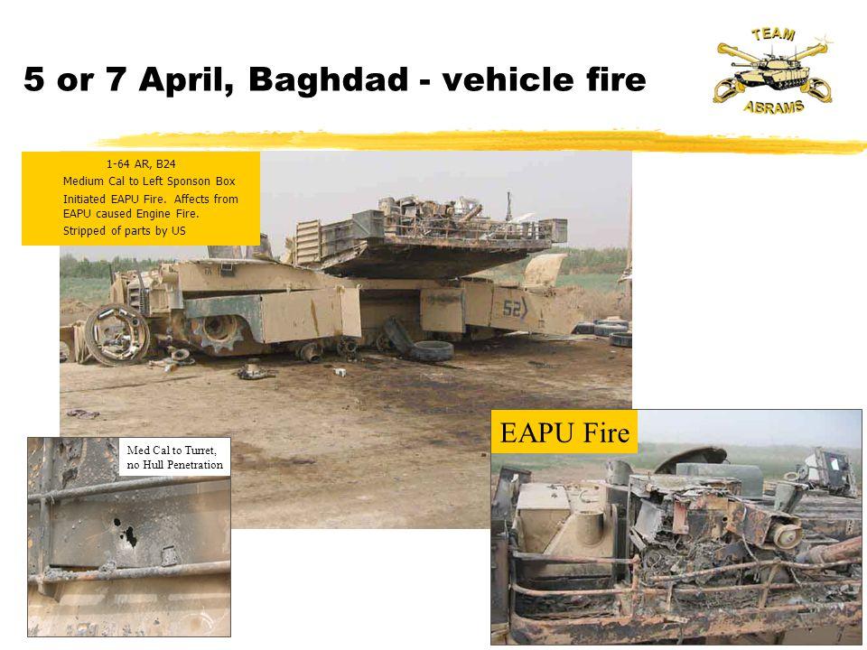 1-64 AR, B24 zMedium Cal to Left Sponson Box zInitiated EAPU Fire.