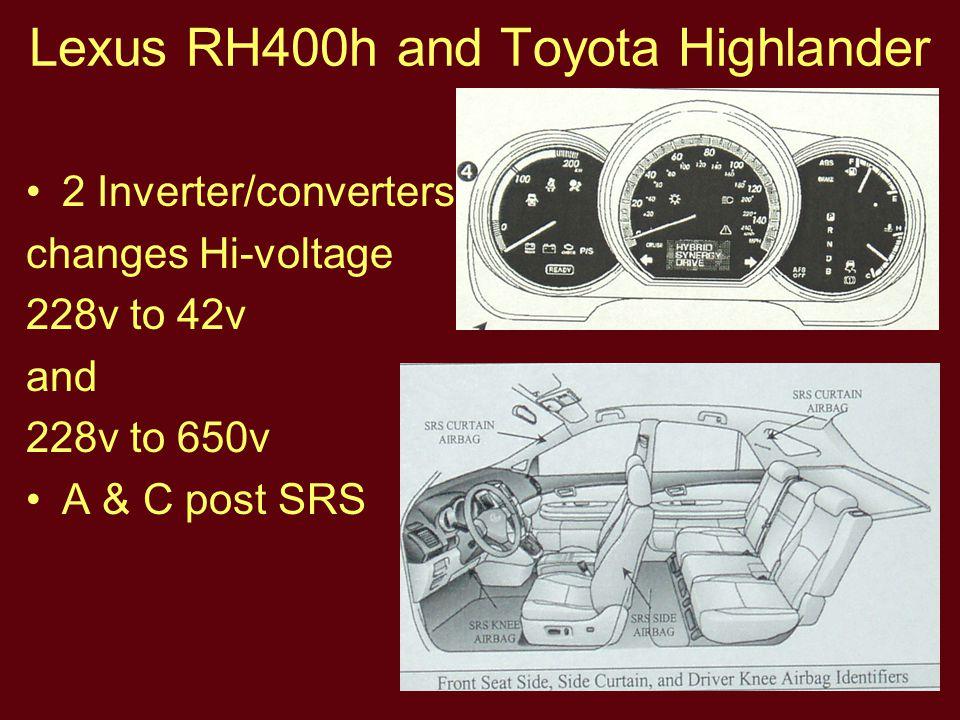 Lexus RH400h and Toyota Highlander