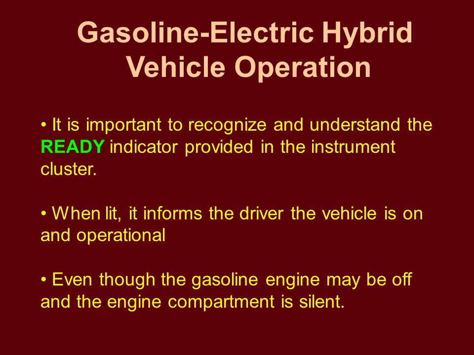The vehicle starts and becomes operational by turning the ignition key to start just like any other typical automobile.