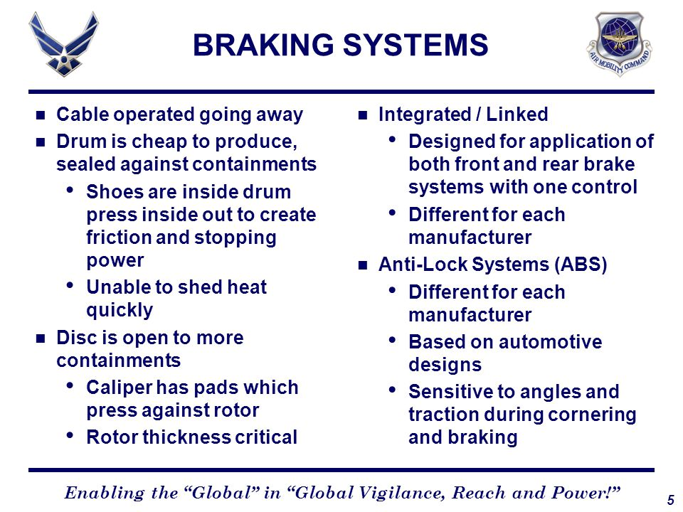 16 Enabling the Global in Global Vigilance, Reach and Power! APPLICATION Perception Ability to perceive that a braking action is required Reaction Physical movement of hand /foot from at-rest position to control Application Action of squeezing brake lever and pressing on rear brake