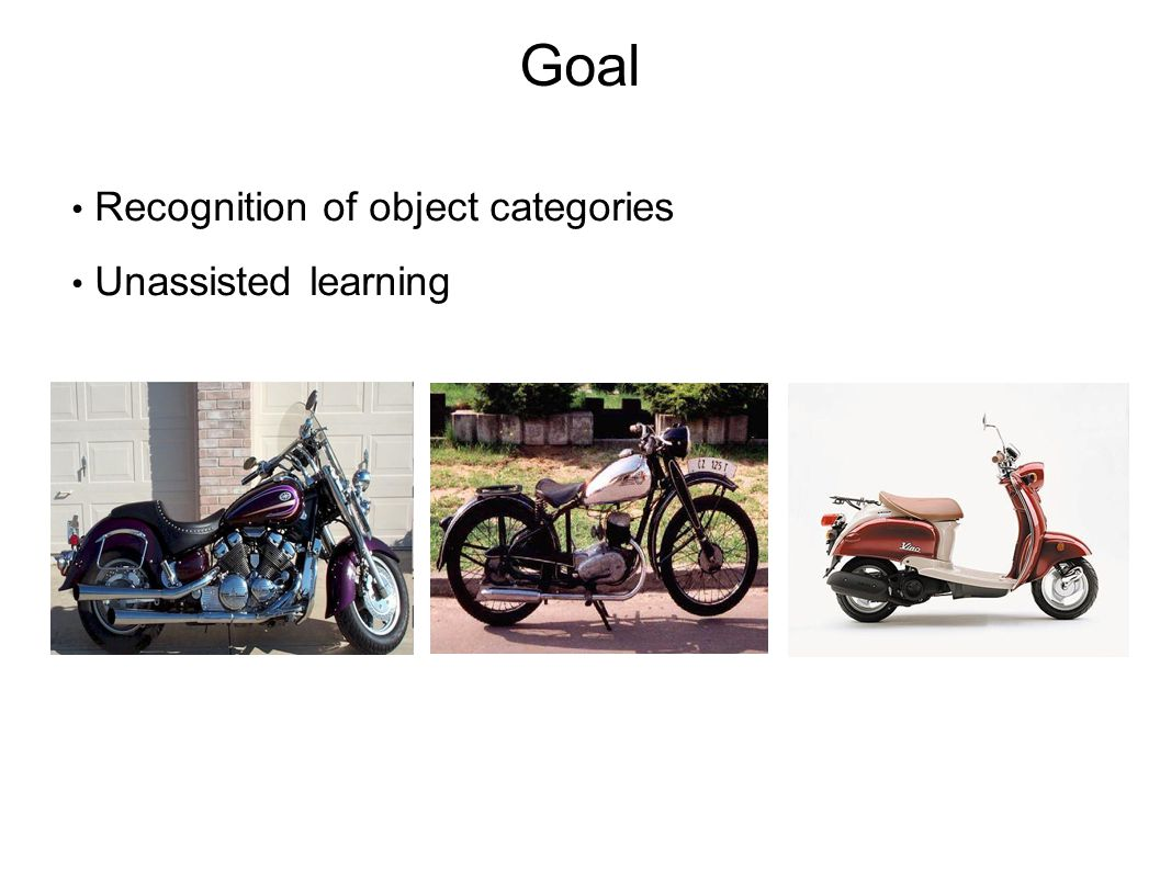 Goal Recognition of object categories Unassisted learning