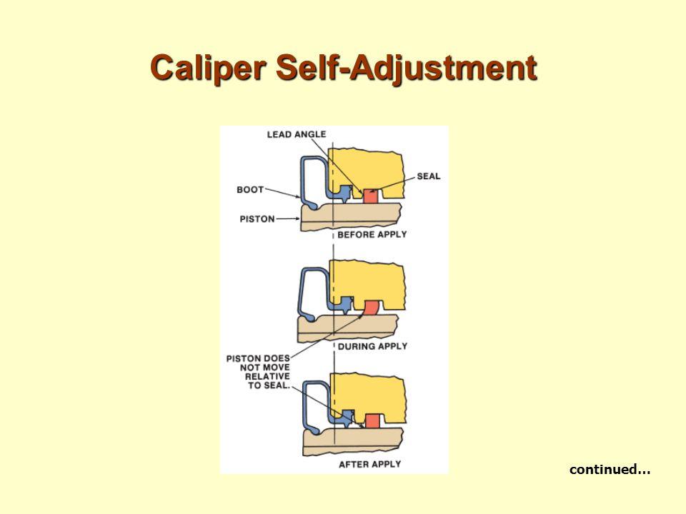 Caliper Self-Adjustment continued…