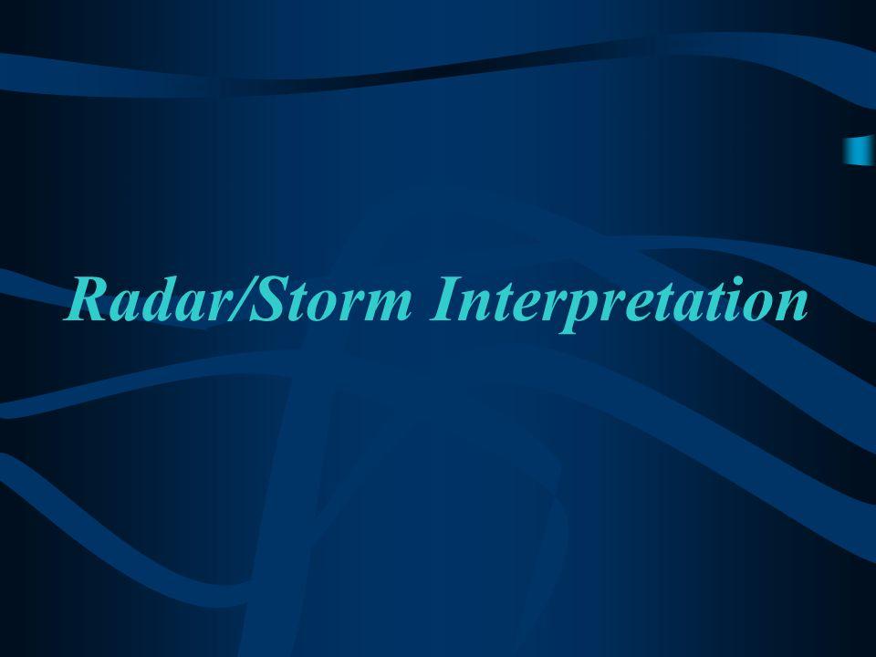 Thunderstorm Spectrum Minimal Threat (?) Moderate Threat Moderate Threat High Threat Mesocyclone Present