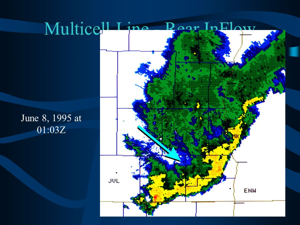 Multicell Line - Rear InFlow Notch June 8, 1995 at 01:03Z