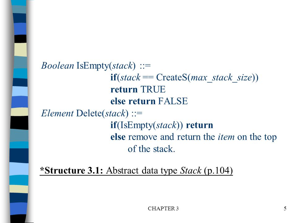 CHAPTER 346 void postfix(void) { /* output the postfix of the expression.
