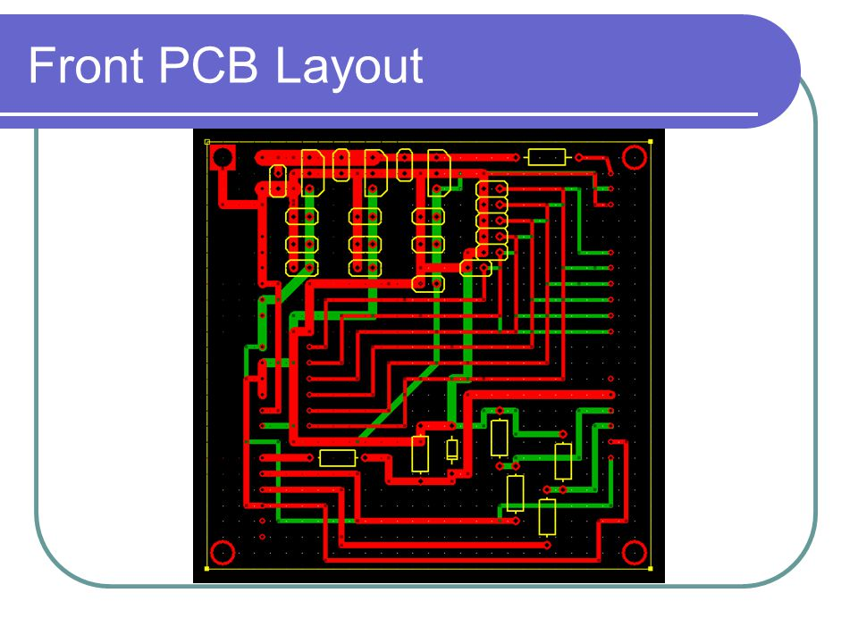 Front PCB Layout