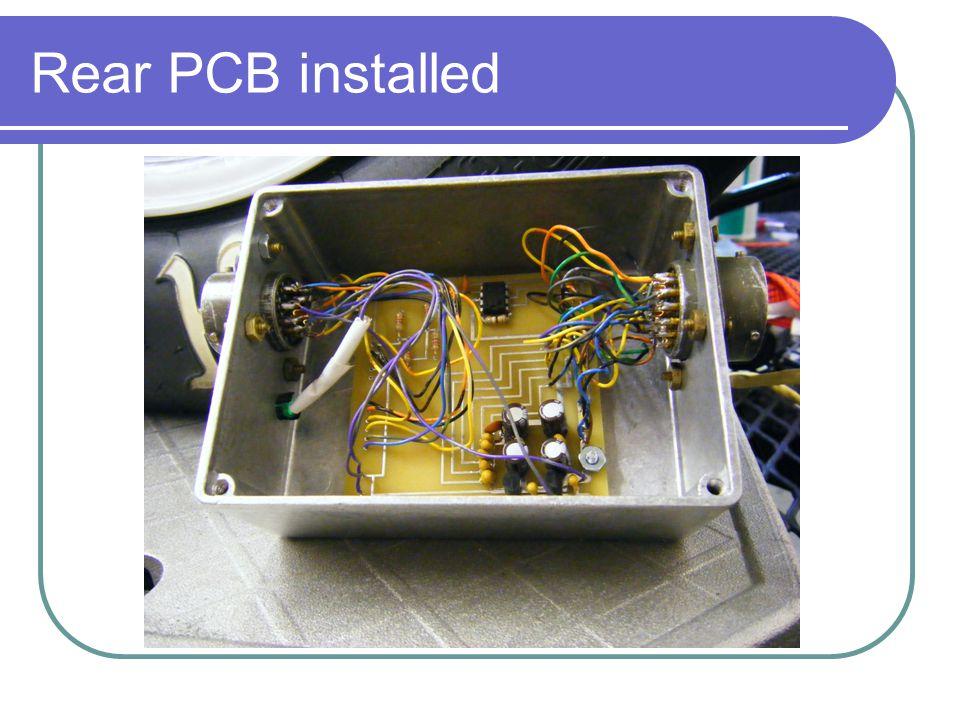Rear PCB installed