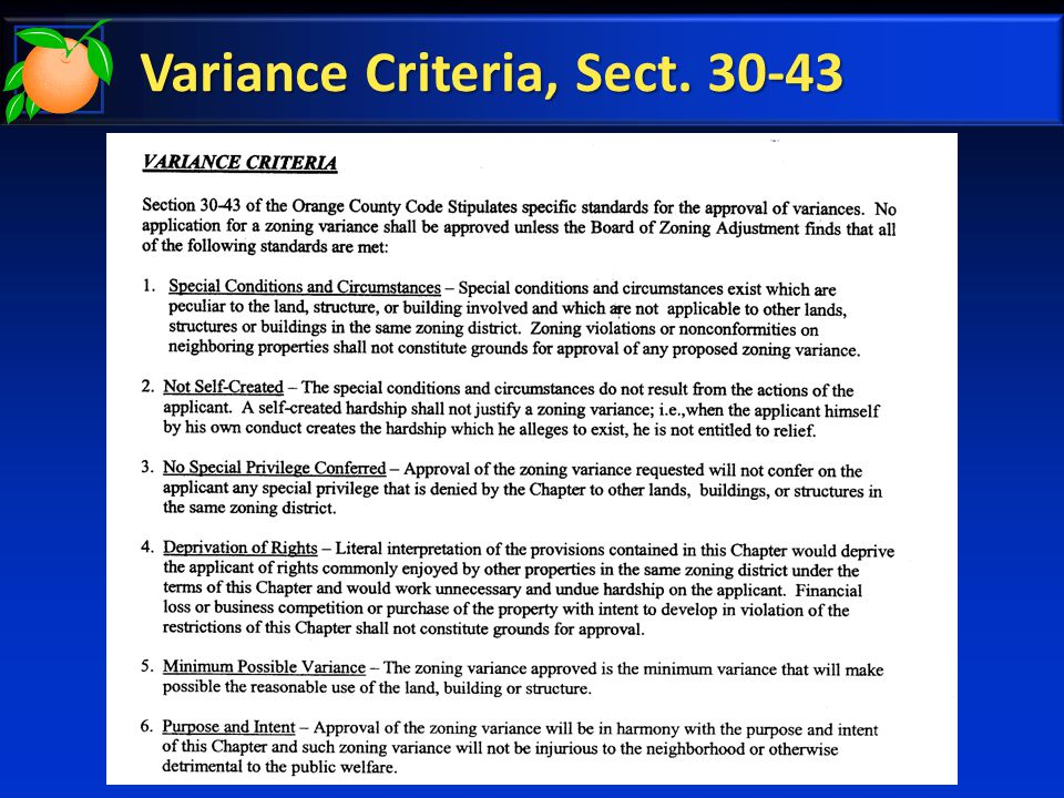 Variance Criteria, Sect. 30-43
