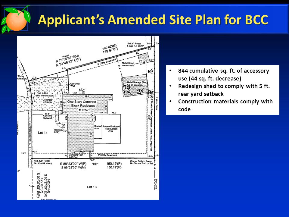 Applicant's Amended Site Plan for BCC 844 cumulative sq.