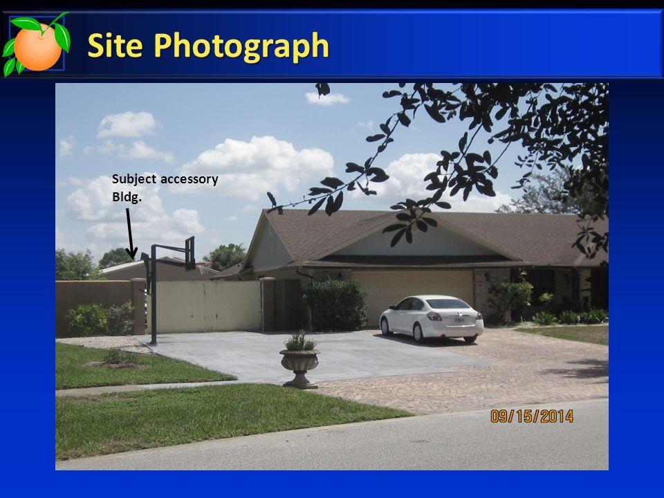 Site Photograph Subject Accessory Bldg.