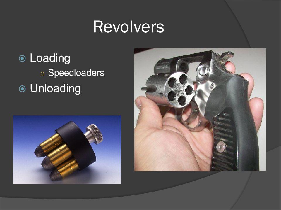 Revolvers  Loading ○ Speedloaders  Unloading