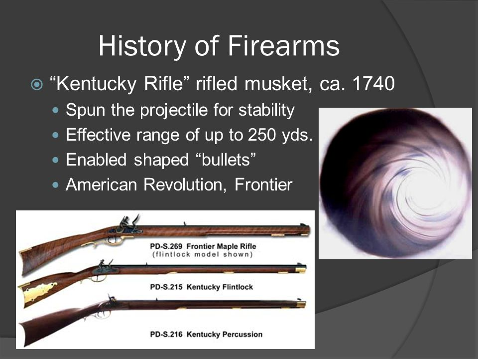 History of Firearms  Kentucky Rifle rifled musket, ca.