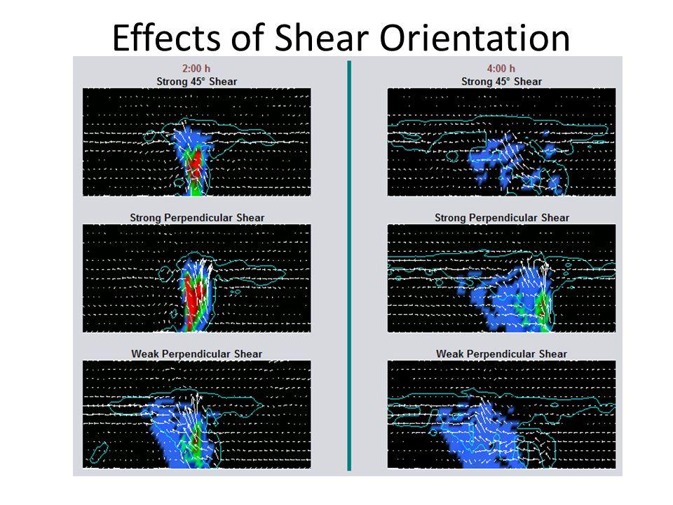 Effects of Shear Orientation