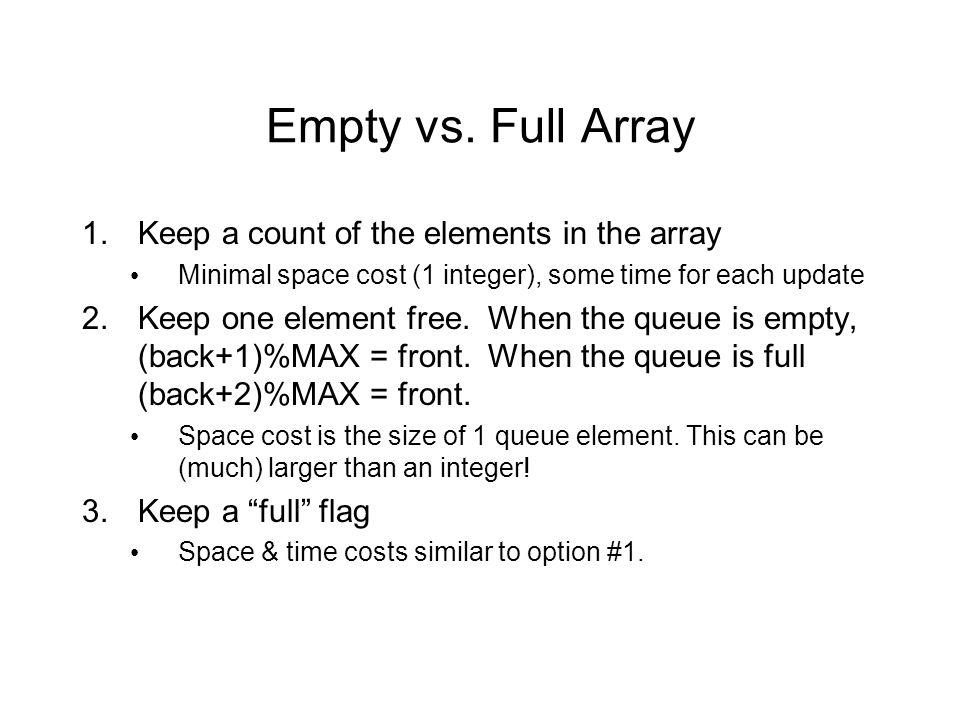 Empty vs.