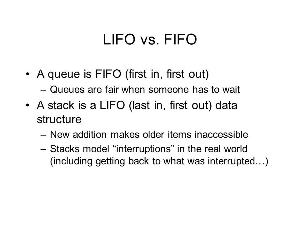 LIFO vs.