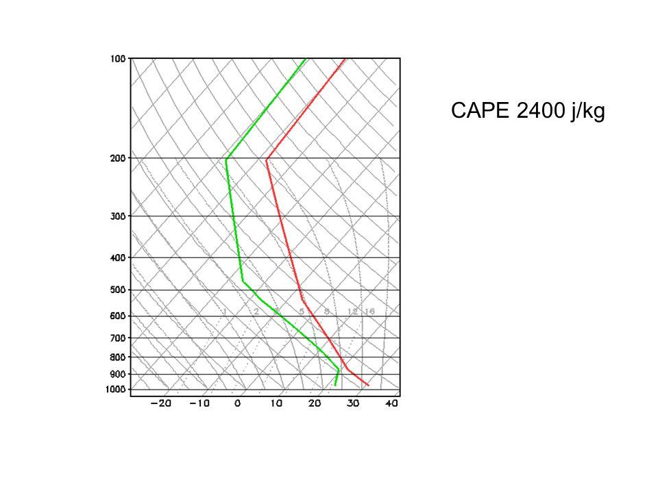 CAPE 2400 j/kg