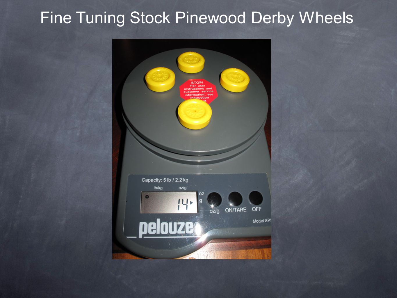 Fine Tuning Stock Pinewood Derby Wheels
