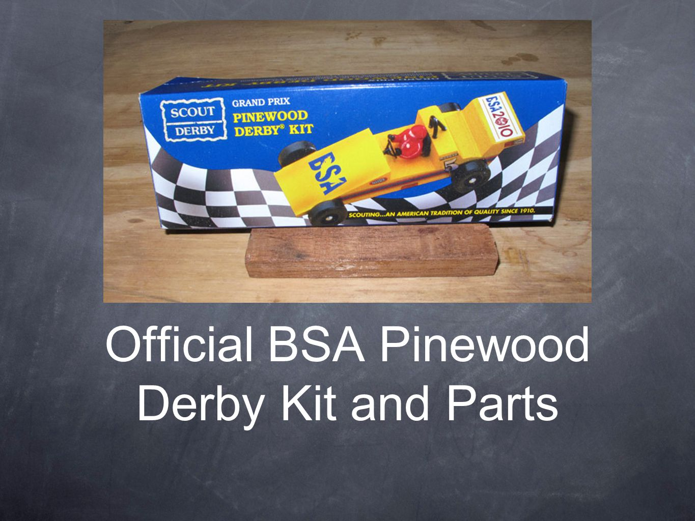Official BSA Pinewood Derby Kit and Parts