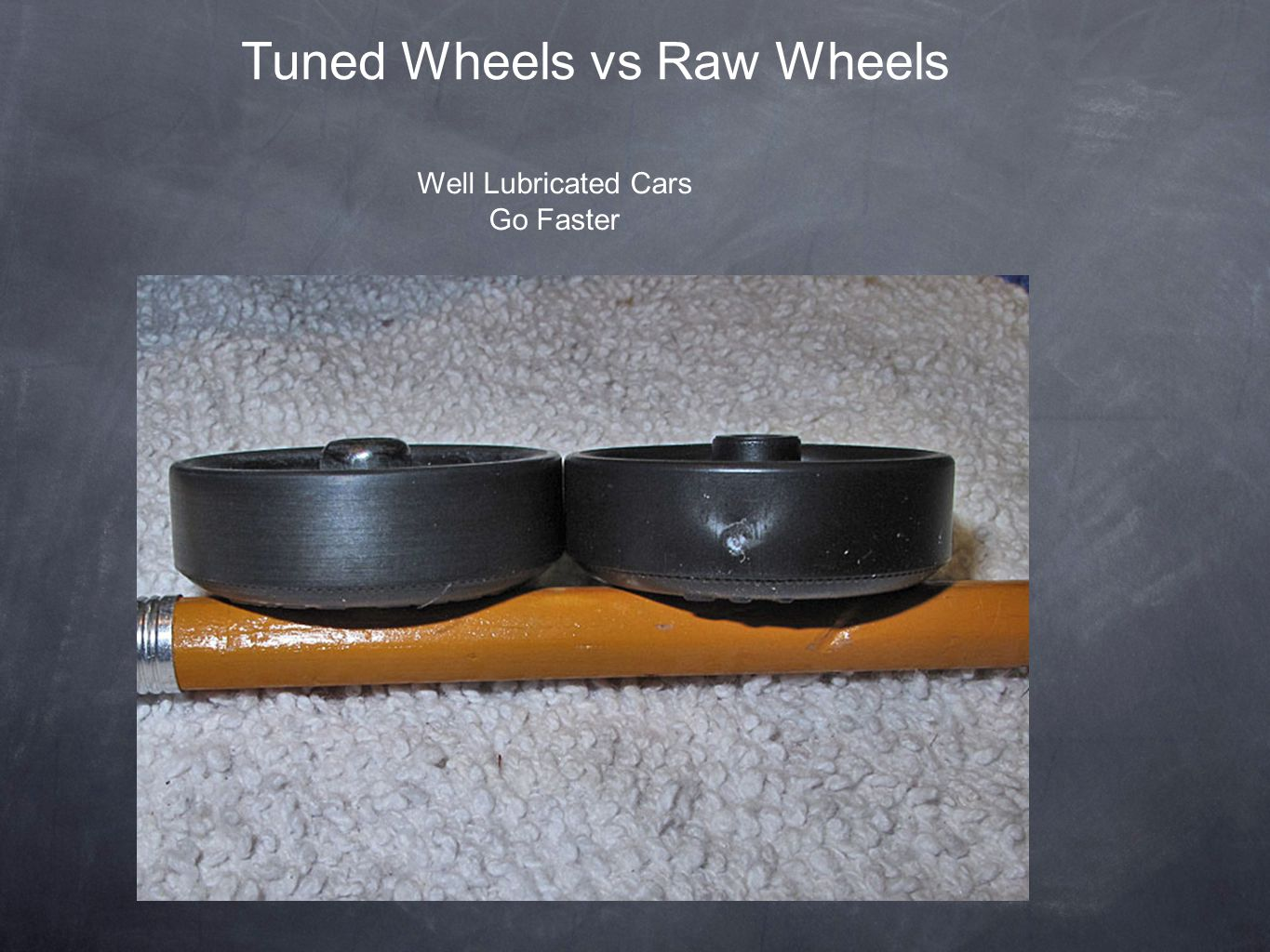 Tuned Wheels vs Raw Wheels Well Lubricated Cars Go Faster