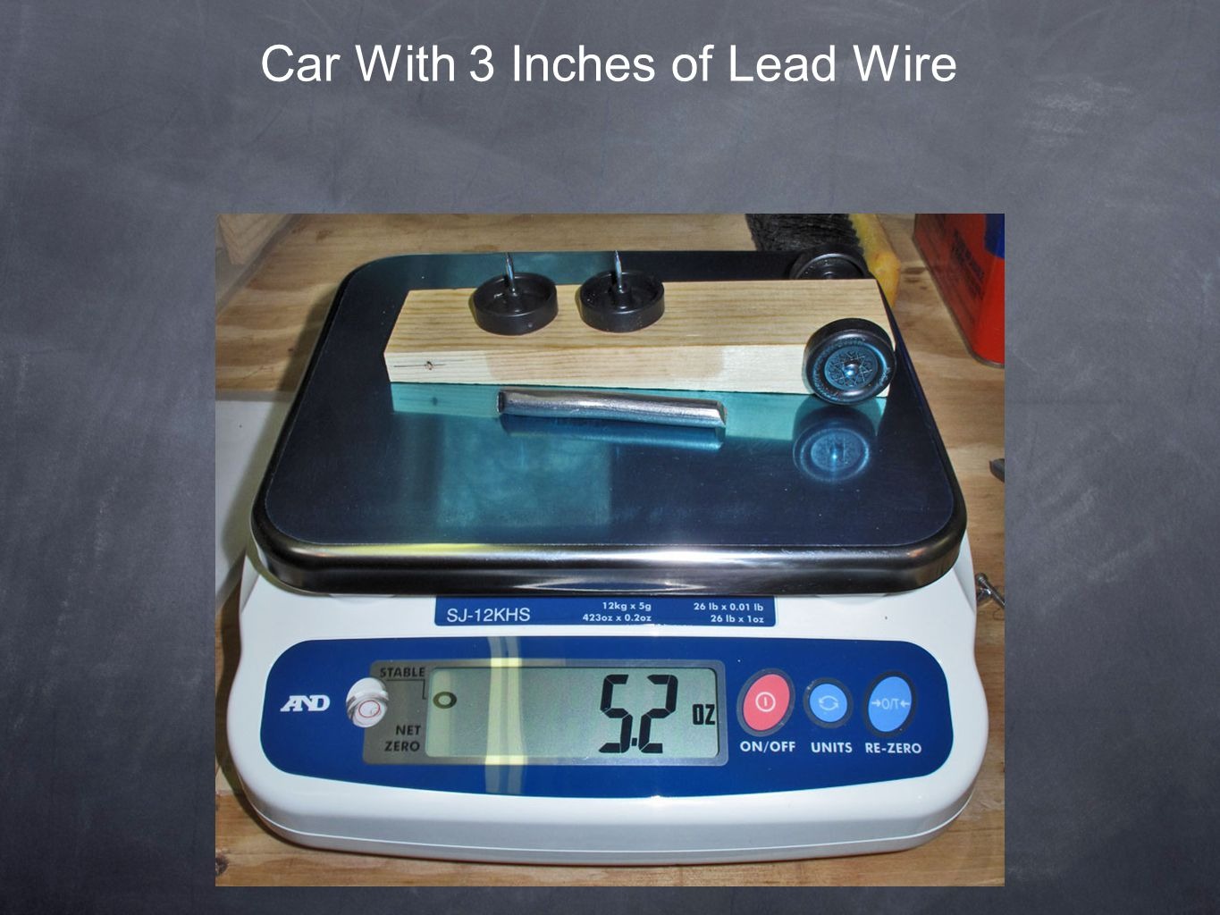 Car With 3 Inches of Lead Wire