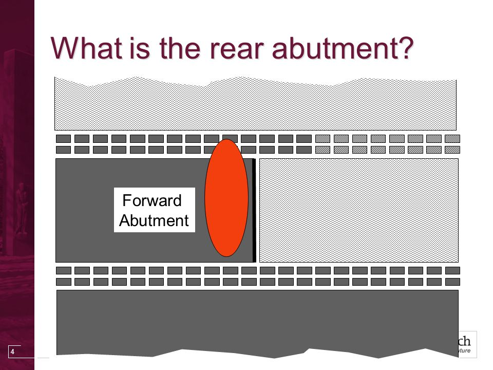 4 Forward Abutment