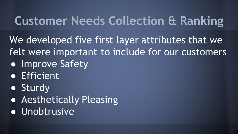 Conclusion ● Our product would meet needs of Delphi customers in the safety department.