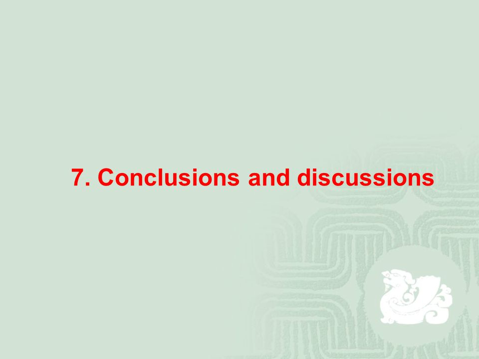7. Conclusions and discussions