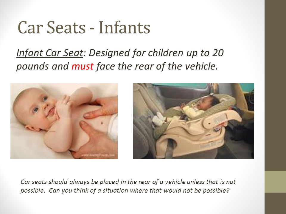 Car Seats - Toddlers Convertible Car Seats: Designed for an infant or a toddler.