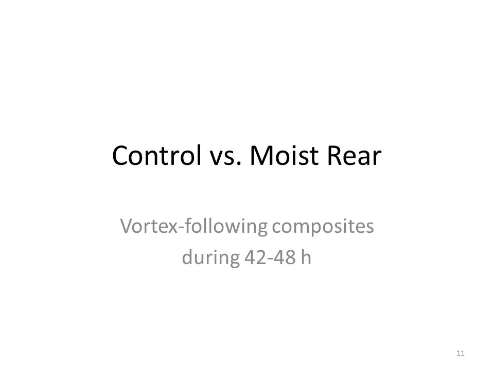 Control vs. Moist Rear Vortex-following composites during 42-48 h 11