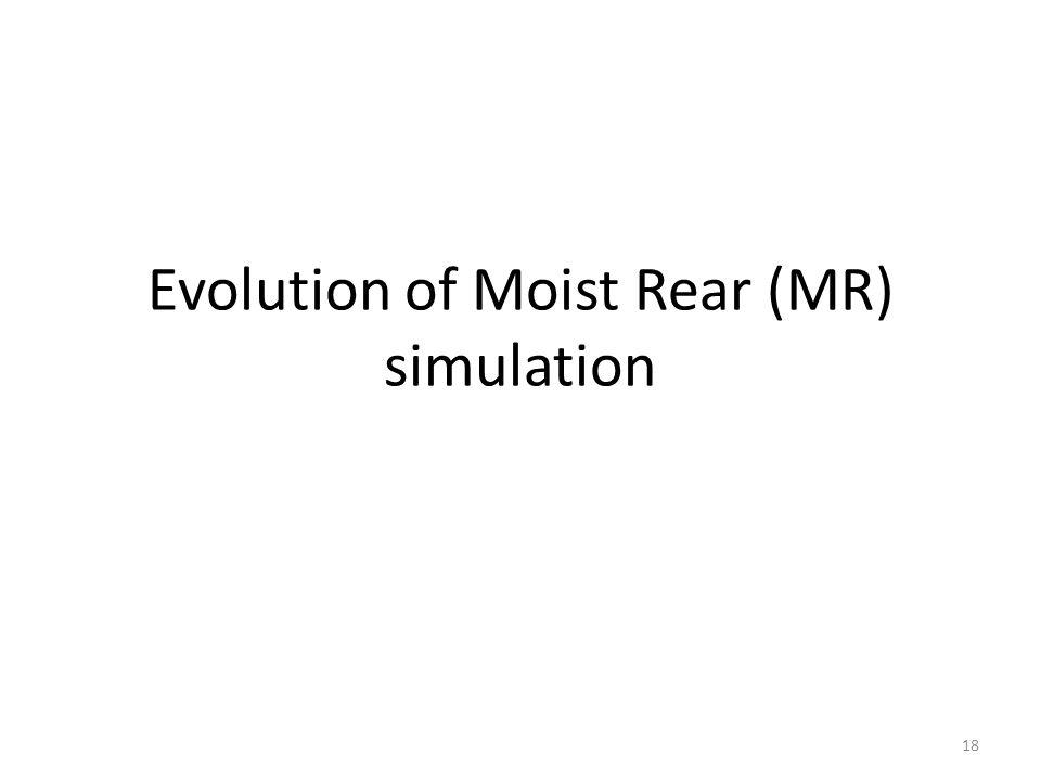 Evolution of Moist Rear (MR) simulation 18