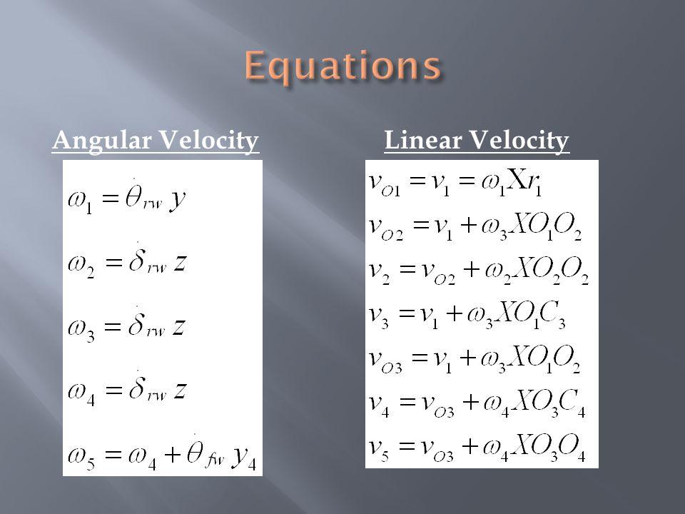 Angular VelocityLinear Velocity