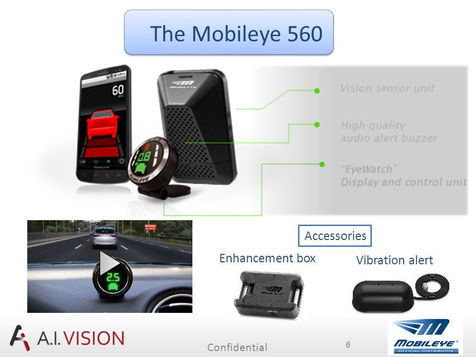 Confidential 6 The Mobileye 560 Enhancement box Vibration alert Accessories