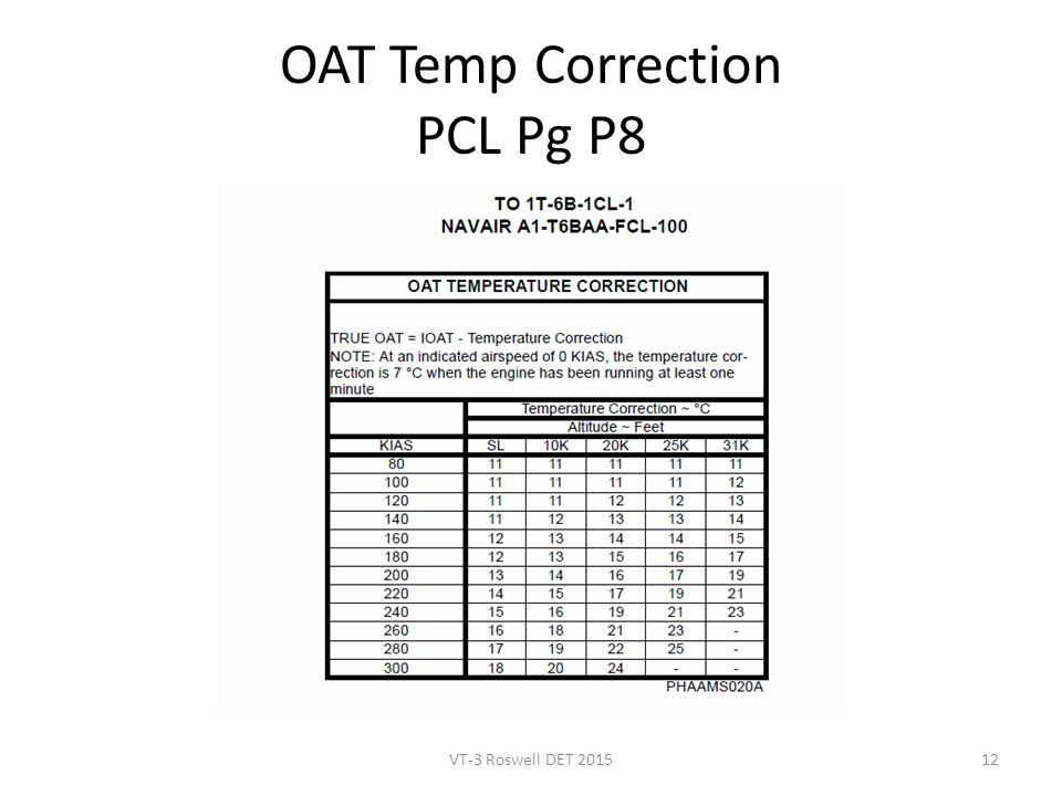 OAT Temp Correction PCL Pg P8 VT-3 Roswell DET 201512