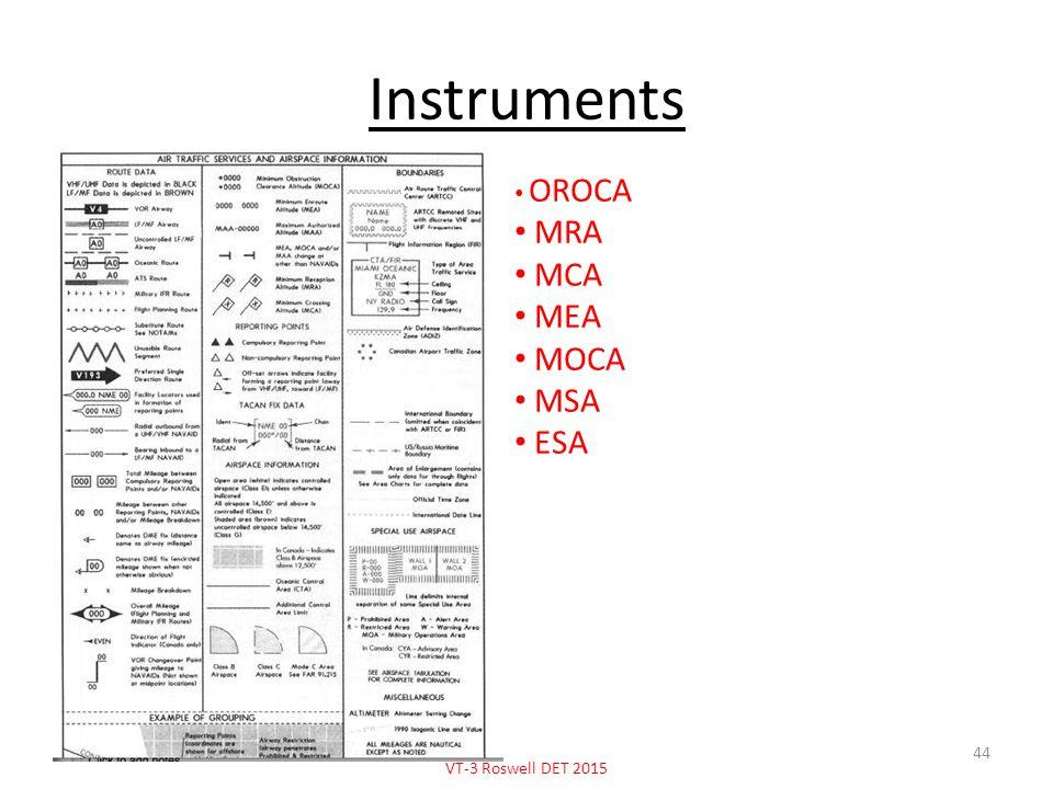 Instruments OROCA MRA MCA MEA MOCA MSA ESA VT-3 Roswell DET 2015 44