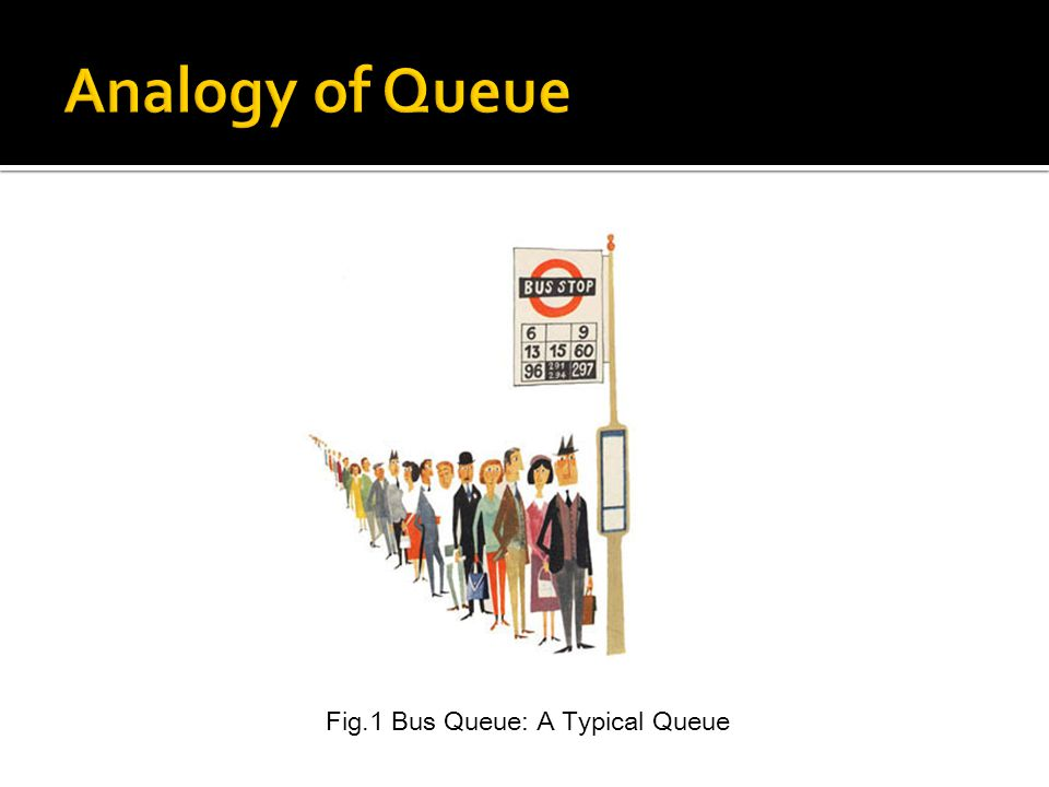 Fig.1 Bus Queue: A Typical Queue