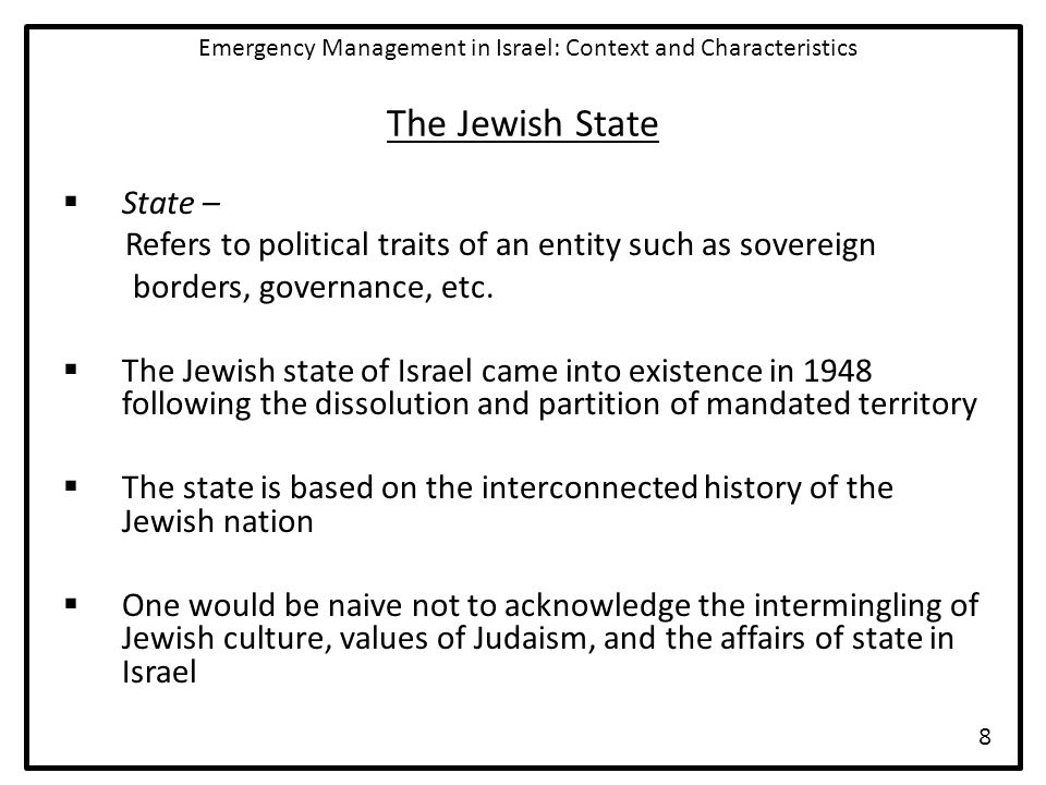 Structure of National Emergency Management in Israel  National Emergency Economy Board  MELACH A part of RACHEL Responsibilities include evacuations, assistance, and casualty management  PESACH Responsibilities include allocation of gas, supply of electricity, the supply of food and water, the provisions of communication services, and the operation of infrastructure Emergency Management in Israel: Context and Characteristics 19