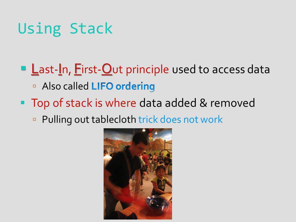 Using Stack