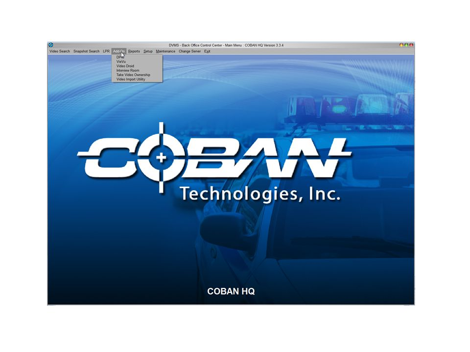 Coban vehicle logs and its important The In-Car Log allows the administrator to sort information about officer activities when they were patrolling.