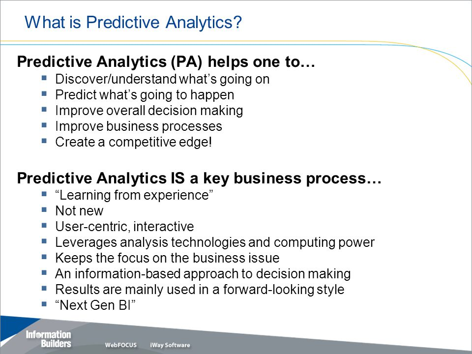 What is Predictive Analytics.