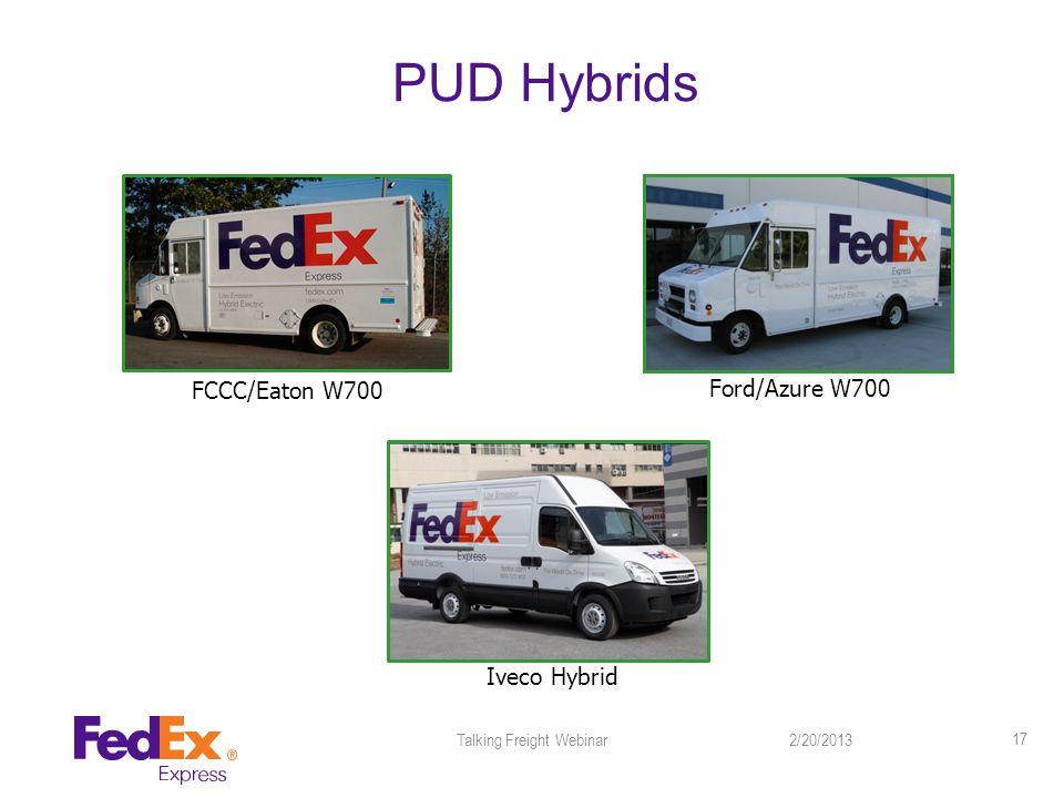 PUD Hybrids 2/20/2013Talking Freight Webinar 17 Iveco Hybrid FCCC/Eaton W700 Ford/Azure W700
